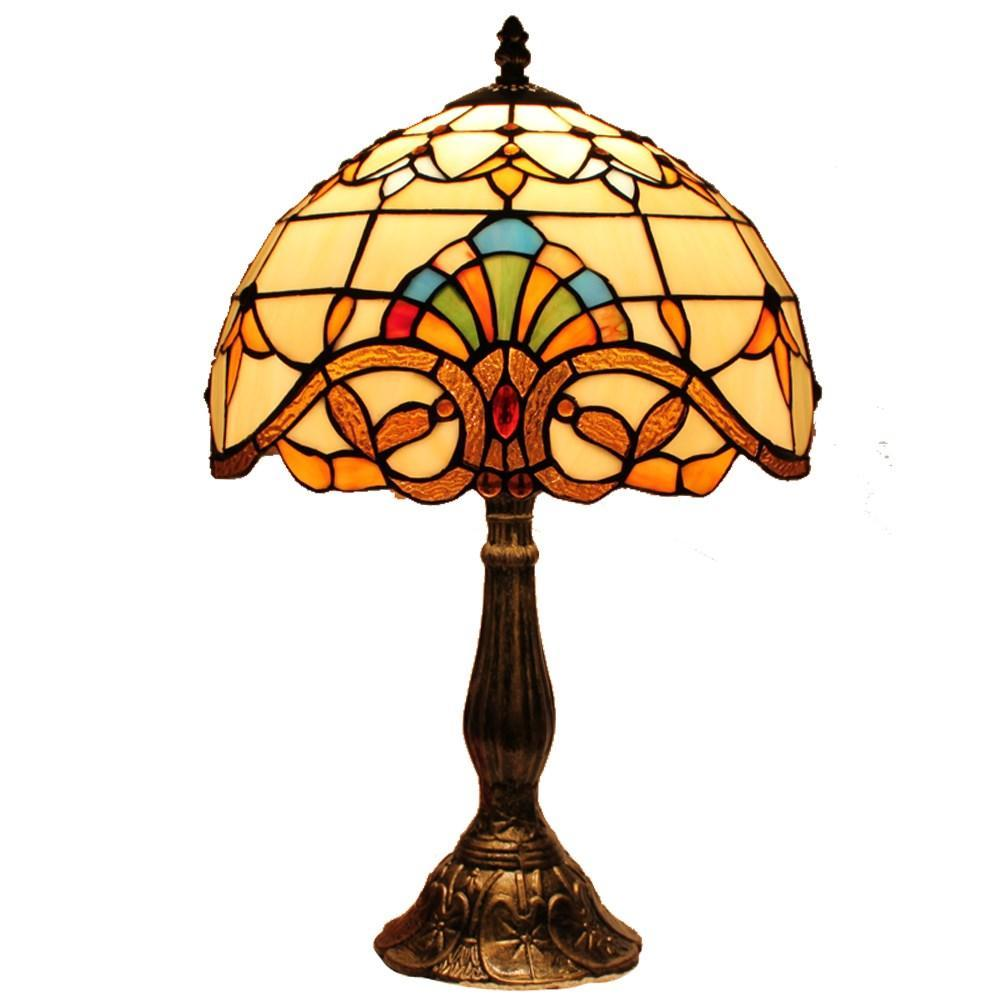 欧式巴洛克现代时尚蒂凡尼卧室床头创意台灯d120025t