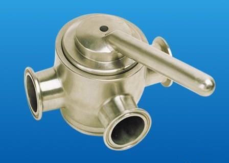 三通旋塞阀的阀塞的形状可成圆柱形或圆锥形.