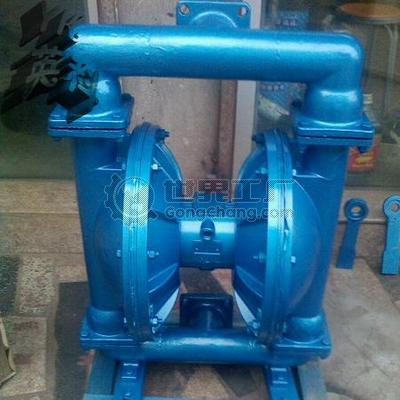 qbk-80气动双隔膜泵_3寸不锈钢气动隔膜泵