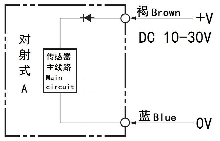 m18 光电开关镜面反射式传感器