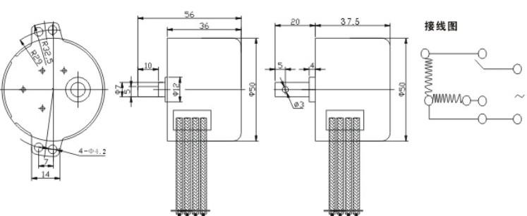 本产品是由永磁同步电机和减速电机构合成一体的可控正反转运行的