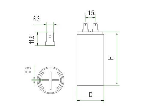 cbb60插片电容器 30uf