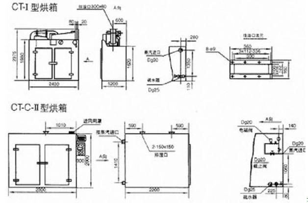热风循环烘箱平面图_热风循环烘箱结构图_热风循环烘箱