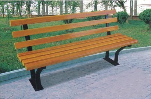 防腐木街道小区休闲凳子