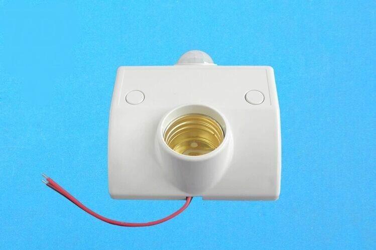 人体红外线感应灯头 e27螺口灯座延时开关