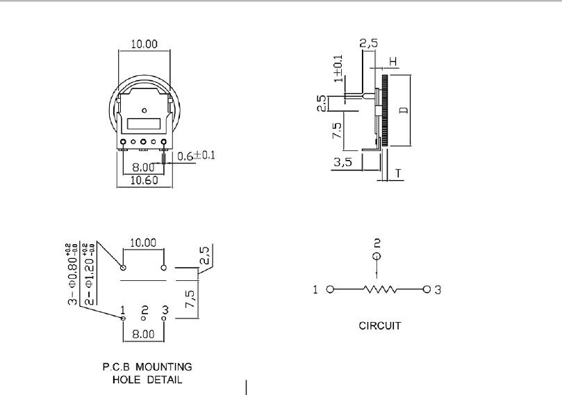 厂家拨盘电位器 hy-b503旋转开关