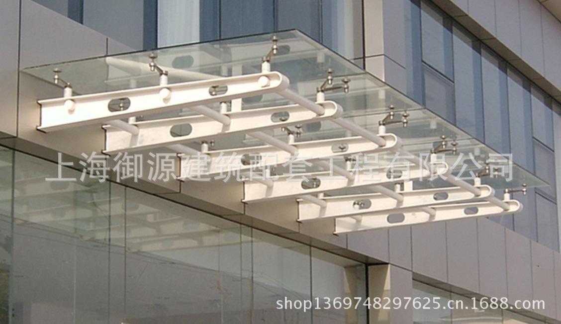 雨棚钢结构制作 时尚钢化夹胶玻璃雨棚