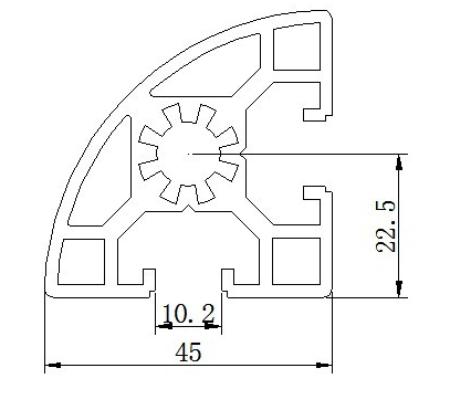 hd-6-4545r铝型材 边框铝型材