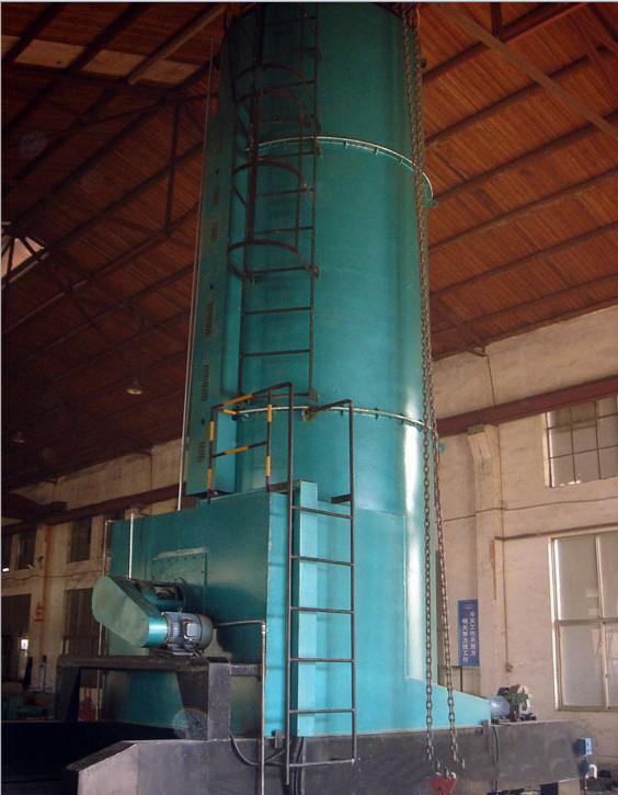 本炉主体为立式炉门在下端的加热炉