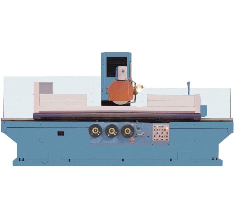 根据砂轮主轴位置和工作台形状的不同,普通平面磨床主要有卧轴矩台